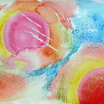 Abstract Painting in watercolour on paper