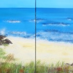 Wexford Beach, Ireland - Seascape Diptych art