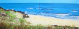 Wexford Beach, Ireland - Seascape Diptych art