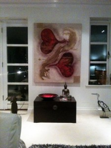 Together Forever Heart Art for Private Home, Sunningdale, UK
