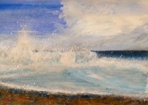 La Herradura Contemporary Seascape Mixed media on Fabriano paper