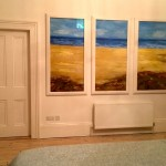 Seascape Triptych Art for Private Beach House, Ireland