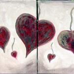 Dancing Hearts LoveHug LoveHug - Heart Painting