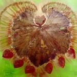 Leafy LoveHug 2 Heart Art with leaf