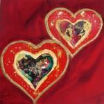 Valentines LoveHug Heart Art