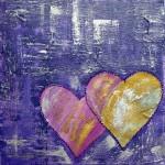 Heart Art Purple Hearts LoveHug