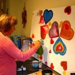 BHF Judith creating her heart