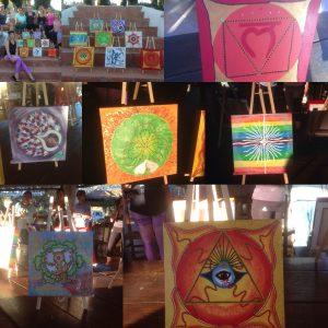 A selection of chakra art