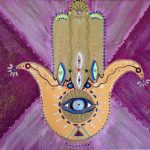 This is Hamsa Art by Steffi Goddard