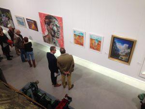 Discerning art collectors at La Azucarera, Motril