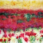Spanish Landscape of Poppies