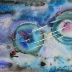Spiritual Abstract Painting in Watercolour on paper