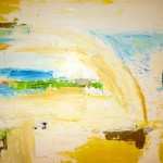 Abstract Painting Summertime Moments 1 - Oil on wood