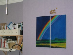 Rainbow Diptych, Private Home, Ireland