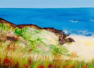 Wexford Beach, Ireland Seascape Art