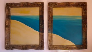 Contemporary Seascape in Antique Frames