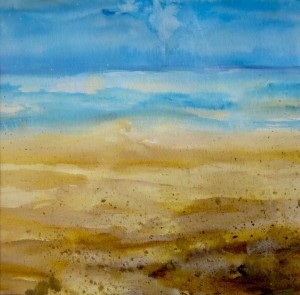 Marbella Beach Watercolour Painting