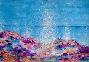 Marbella Beach 'Splash!' Series - Mixed Media on Paper