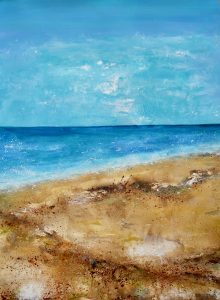 Semi Abstract Contemporary Seascape - watercolour on paper