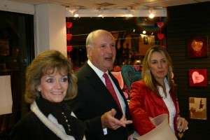 Sue Holderness aka 'Marlene' came to support British Heart Foundation auction