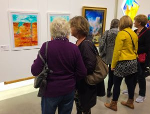 Lots of visitors came to the private view