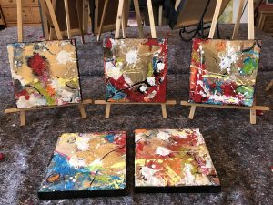 Selection of Abstract encaustic paintings
