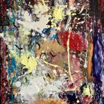 Highly textured encaustic abstract