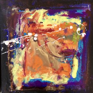 Abstract Encaustic Art