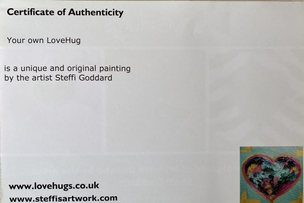 HeartArt Certificate of Authenticity